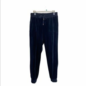 Juicy Couture Black velour Jogger sweatpants
